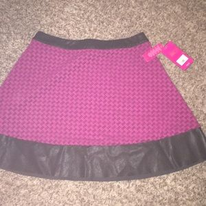 Pink and Leather Skirt